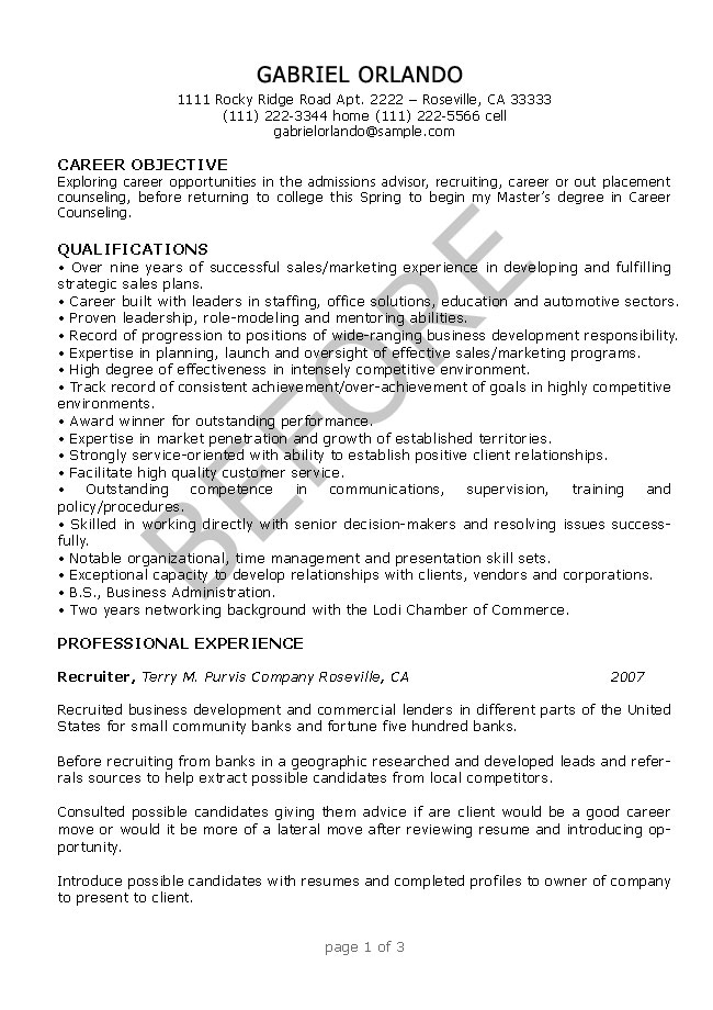 Resume Editing Sample Before ...  Resume Editing