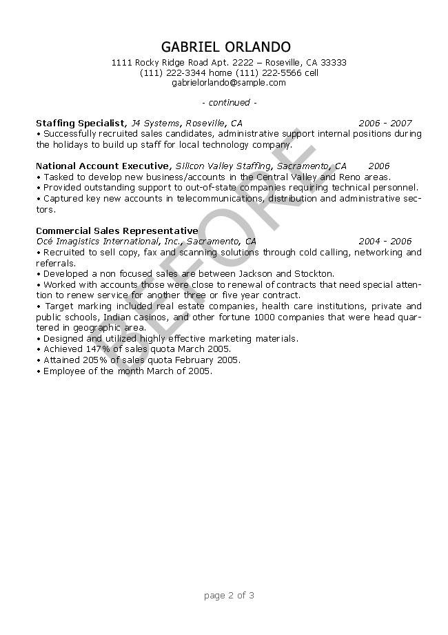 Resume Editing Sample 2 before